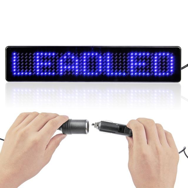 9 polegadas de Rolagem Display LED Carro Inglês Controle Remoto LEVOU Placa Do Sinal Do Carro LEVOU Sinal Mensagem Programável 12 v Diy kit