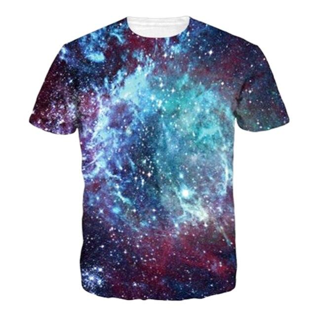 005345252b20 Summer Fashion T-shirt Men Women s 3D T Shirt Space Cosmic Force Star Print  Galaxy Design Leisure Short Sleeve Tees Tops