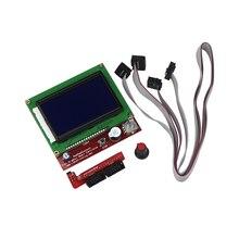 12864 Дисплей ЖК-дисплей 3D-принтеры контроллер + адаптер для Рампы 1.4 RepRap Мендель GM