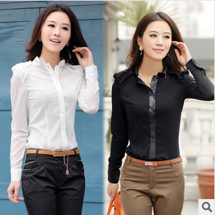 Free shipping 2013 new arrival autumn women's fashion ol elegant slim all-match long-sleeve t shirts 0241508512