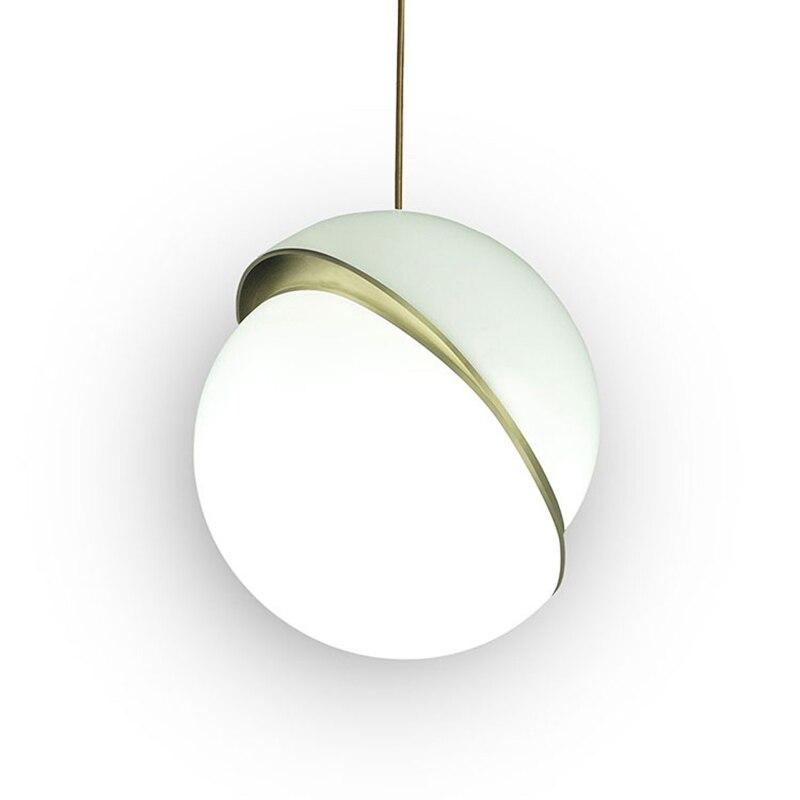 Minimalisme Mini soleil lumière globe pendentif LED lumières lune métal corps acrylique abat-jour Suspension lumière nordique poste moderne lampe à LED