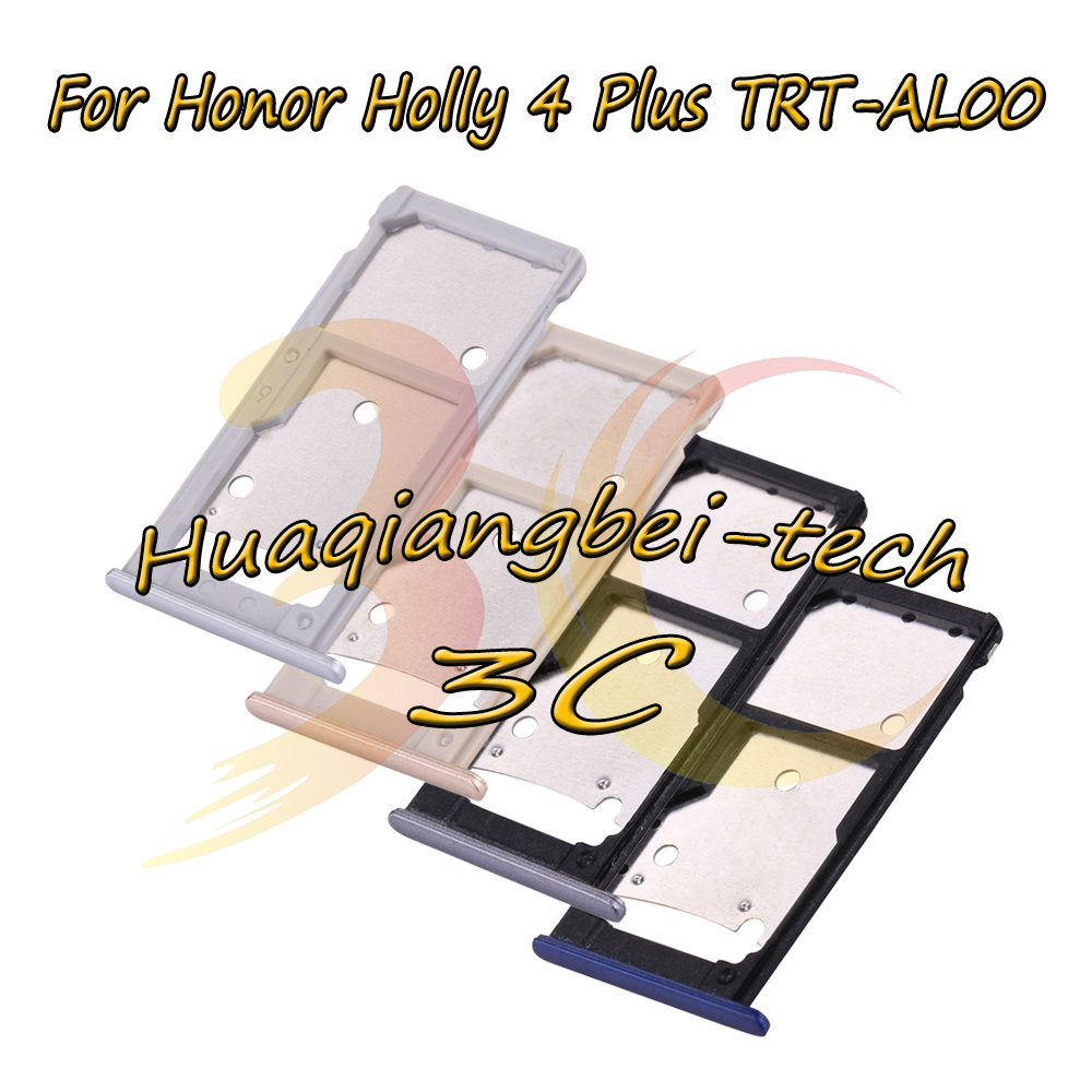 For Huawei Honor Holly 4 Plus / Honor Holly 4+ TRT-AL00 Sim Card Tray Micro SD Card Holder Slot Adapter Parts Sim Card Adapter