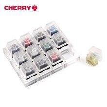 12 Cherry MX Switches คีย์บอร์ด Tester ชุด Clear Keycaps Sampler PCB แป้นพิมพ์คีย์บอร์ดโปร่งแสงเครื่องมือทดสอบ
