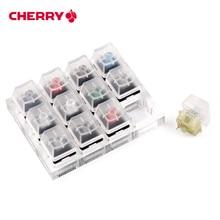 12 チェリー Mx スイッチキーボードテスターキットクリアキーキャップサンプラー PCB メカニカルキーボード半透明キーキャップテストツール