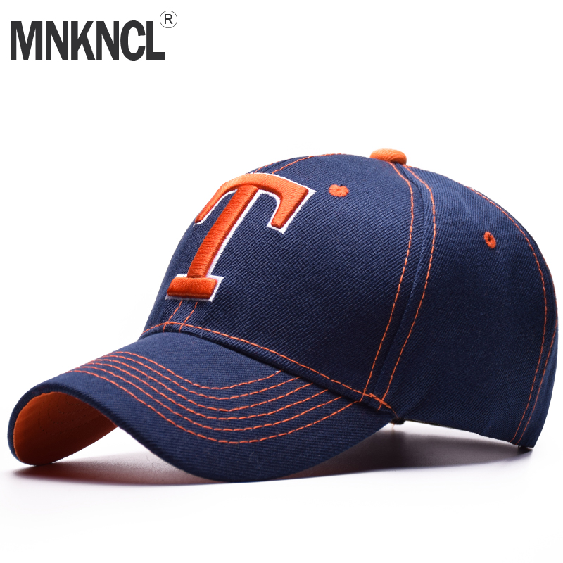 MNKNCL High Quality Baseball Cap Unisex Sports Leisure Hats Letter T Embroidery Sport Cap For Men and Women Hip Hop Hats sterbakov unisex embroidery youth letter baseball cap men s