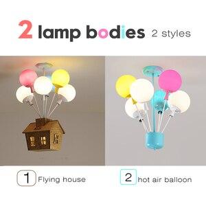 Image 3 - Plafonnier suspendu en forme de ballon coloré, design nordique, luminaire décoratif dintérieur, idéal pour la chambre dun enfant