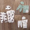 Bebé Swaddle Muselina Mantas Newborn Fotografía Proposición sombrero pantalones Transpirable Cesta Cesta de la Historieta Impresa Manta de Bebé de Algodón