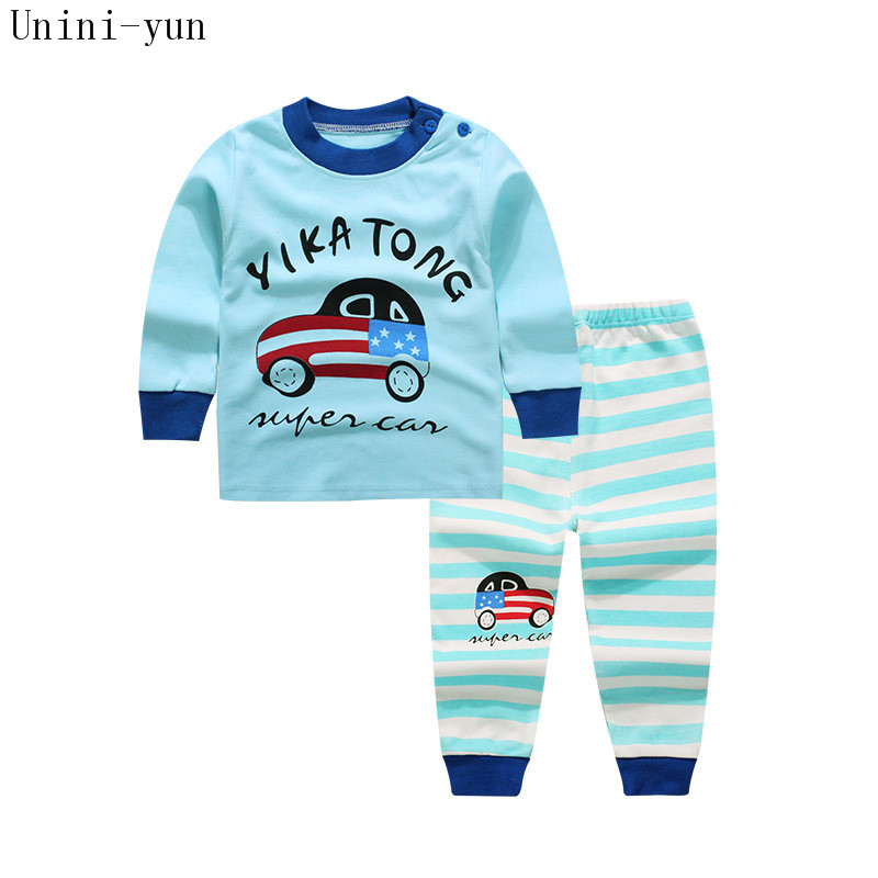 Boys Clothing Sets 2017 New Arrival Spring&Autumn O-Neck Long Sleeve Cartoon Kids Clothing Sets Children Clothing Car Print Suit