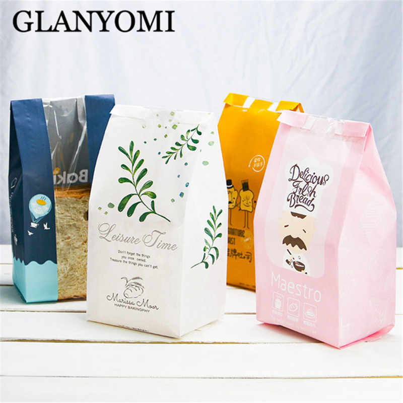 Us 9 65 37 Off 50pcs Creative Kraft Paper Bag Toast Bread Packaging Bags Candy Cookie Biscuits Nuts Snack Baking Package Gift In