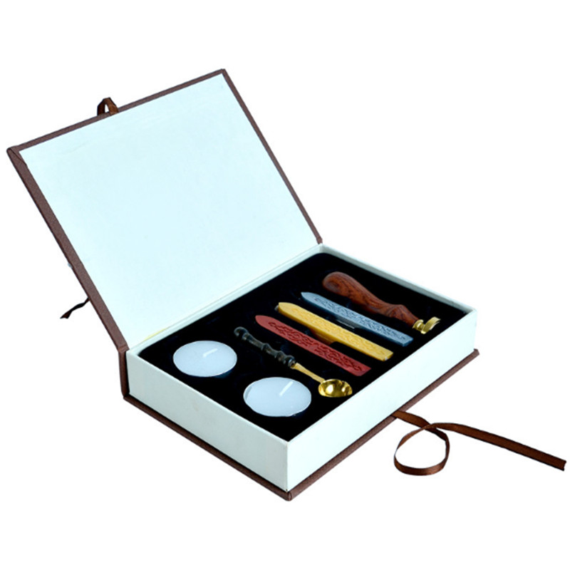 Customization Wax Seal Set with Custom Made Stamp Stick , Spoon, Tealight Candles Included for DIY Manuscripting