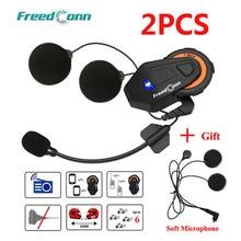 2 шт Freedconn T-Max шлем Bluetooth домофон гарнитура мотоцикл 1000 м 6 райдеров групповая система разговора fm-радио+ мягкий наушник