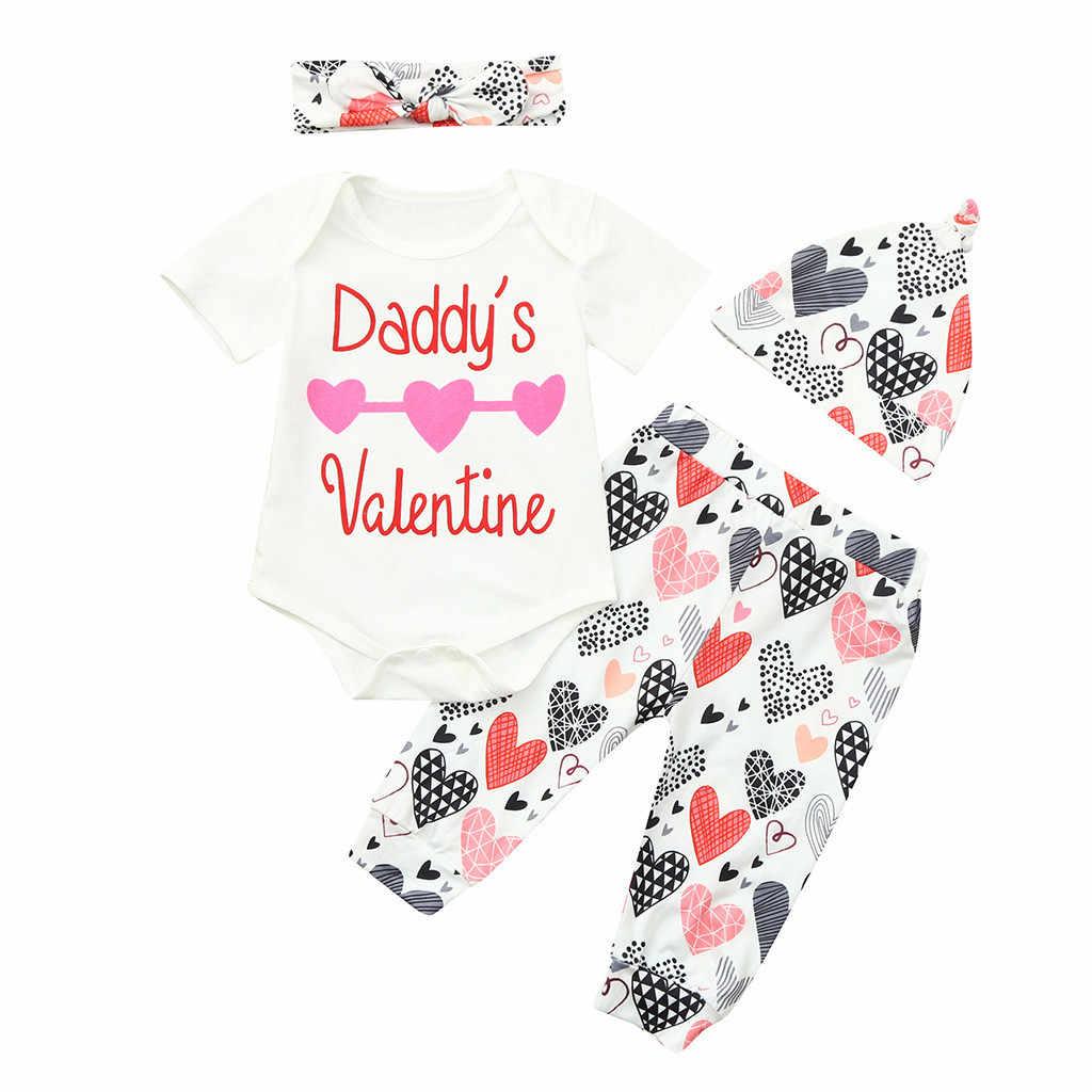 d51b54641f92 My First Valentine Valentine s Day Letter Infant Baby Valentine s Day  Letter Print Romper+Pants+