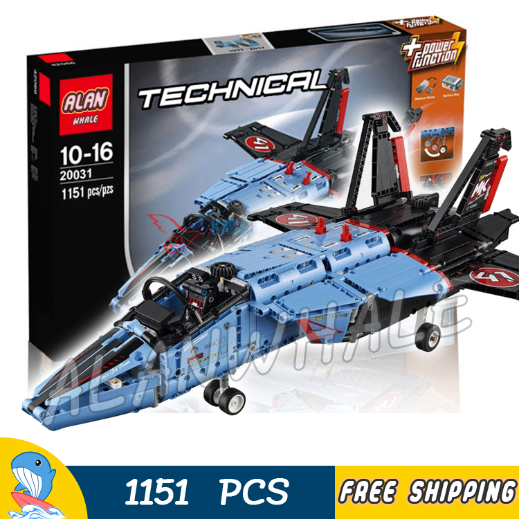 1151pcs 2in1 Technic Advanced Air Race Jet Plane Fighter 20031 DIY Model Building Blocks Boys Toys Bricks Compatible With lego