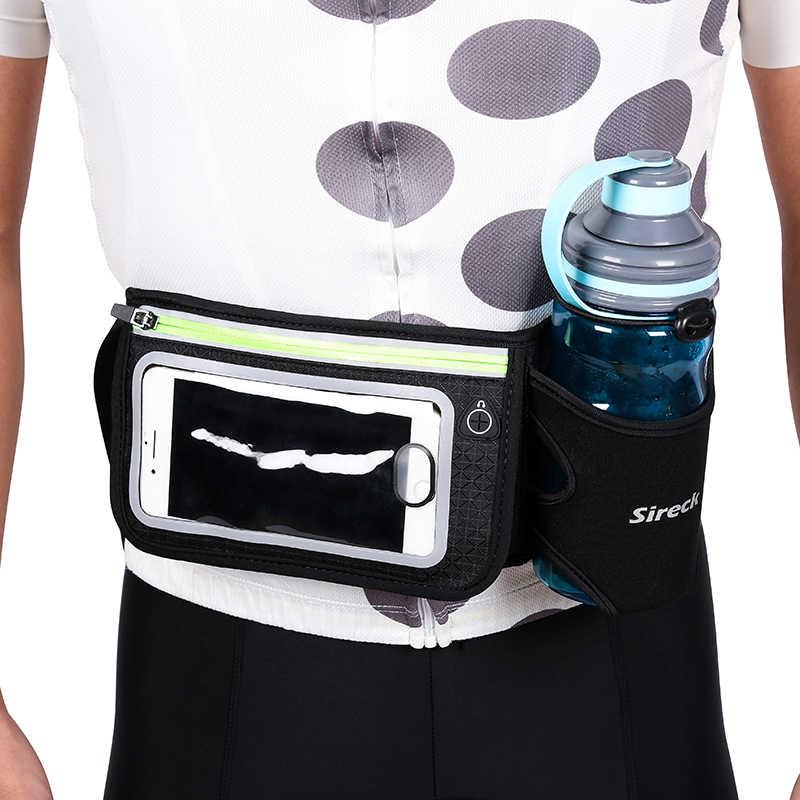 Sireck 袋を実行して水ボトルパックウエストベルト電話防水スポーツバッグフィットネスジムを実行しているアクセサリー