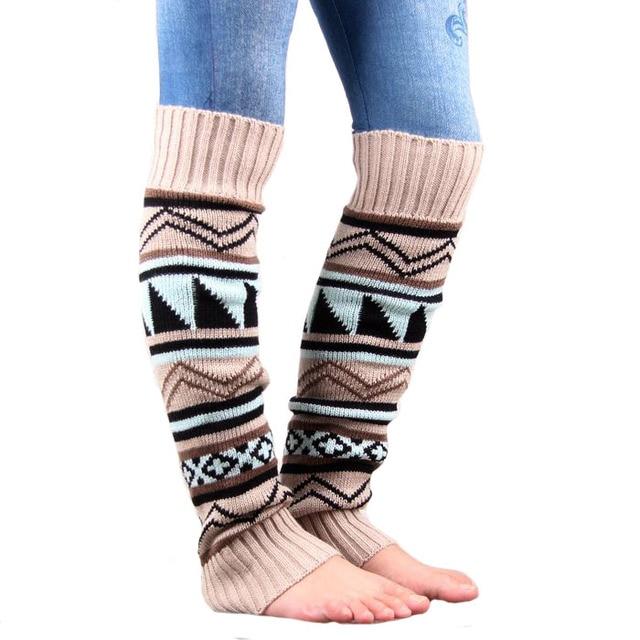 Al por menor NUEVA boho de arranque puños calcetines de arranque  calentadores de La Pierna de las mujeres de punto de ganchillo Calentadores  de La ...