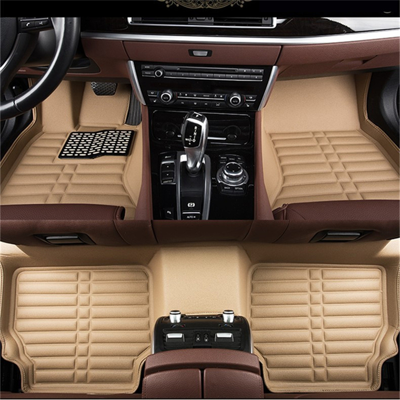 Auto Floor Mats For Honda Accord 2014.2015.2016.2017 Foot Carpets Step Mat High Quality New Water Proof Clean Solid Color Mats