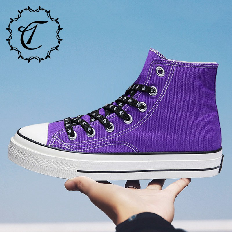 CatriCa Canvas Designer Hot Sale High Top Quality Casual Men Shoes Fashion Trainers Male Sneakers 2019 Black White Purple L B550