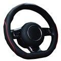 Couro Tampa da roda de Direcção Para Golf Audi BMW D Estilo Tampa Da Roda de Direção Envolve 15 Polegadas