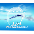 Индекс 1.61 фотохромные линзы по рецепту линзы близорукости / дальнозоркости высокое качество оптических линз