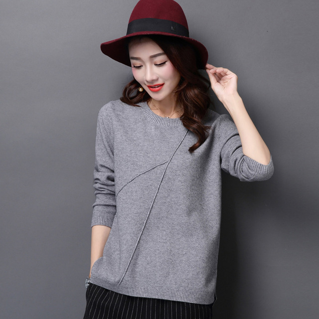 54dc766c34 Women Korean Sweater Thick Coarse Wool Knitted Lantern Sleeve Tops Fashion  Casual For Spring Autumn Winter Knitted Pullover