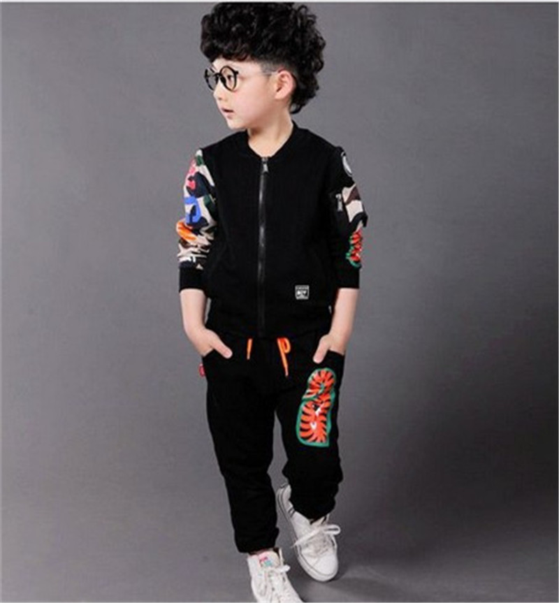 Spring Autumn Boy Coat Pants Set O-neck Toddler Children Clothing Fashion Baby Suit Next Tracksuit Infantil Casual Kids Clothes