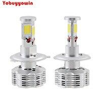 2pcs H4 HB2 9003 Super Bright 6000K 6500K White 12000lm 120W Set COB Car Auto LED