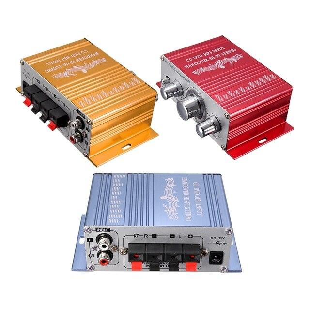 RCA 2CH Hi Fi amplificateur stéréo Booster MP3 haut parleur pour voiture DVD Mini Moto vente chaude