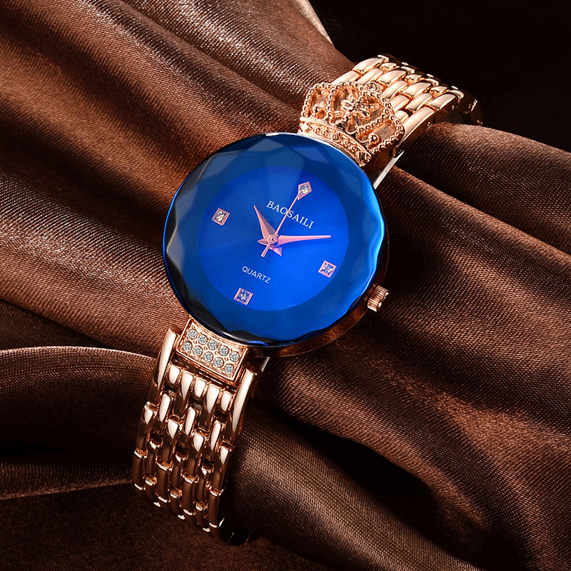 Golden New Clock gold Fashion Women watch full gold Stainless Steel Quartz watches Wrist Watch Wholesale Gold watch Women BS012 2016 new ladies fashion watches decorative grape no word design gold watch stainless steel women casual wrist watch fd0107