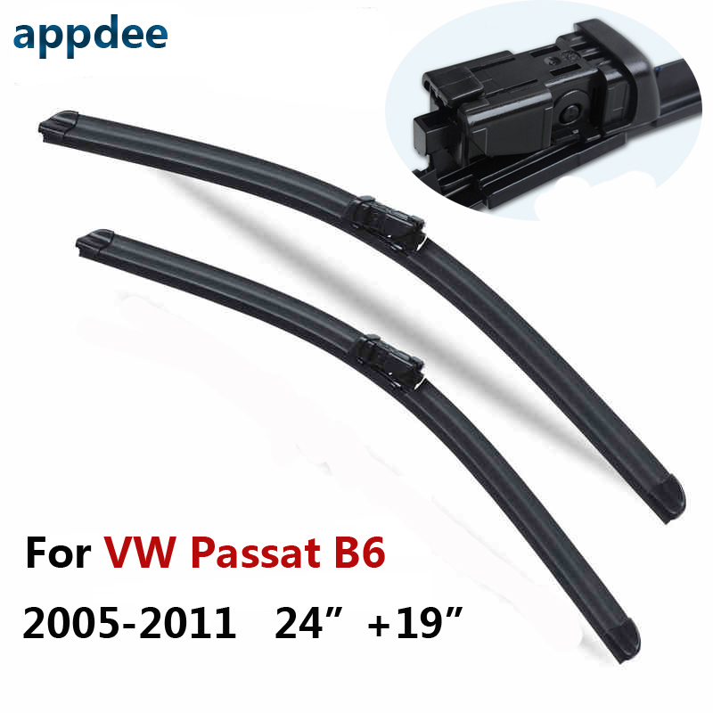 24''+19'' Pair Windscreen Wiper Blades For VW Volkswagen Passat B6 3C Estate Variant ,Fit Windshield Rubber Wipers Arm wiper blades for volkswagen polo sedan vento 24