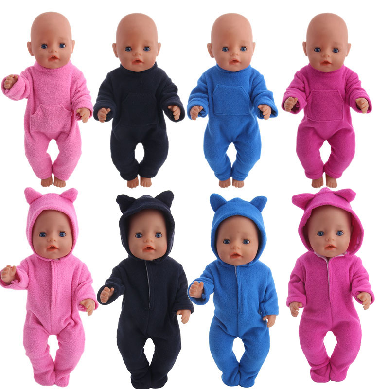 Doll Unicorn Pajamas Nightgowns 4 Colors For 18 Inch American&43 Cm Baby New Born Doll For Our Generation Christmas Girl`s Toy