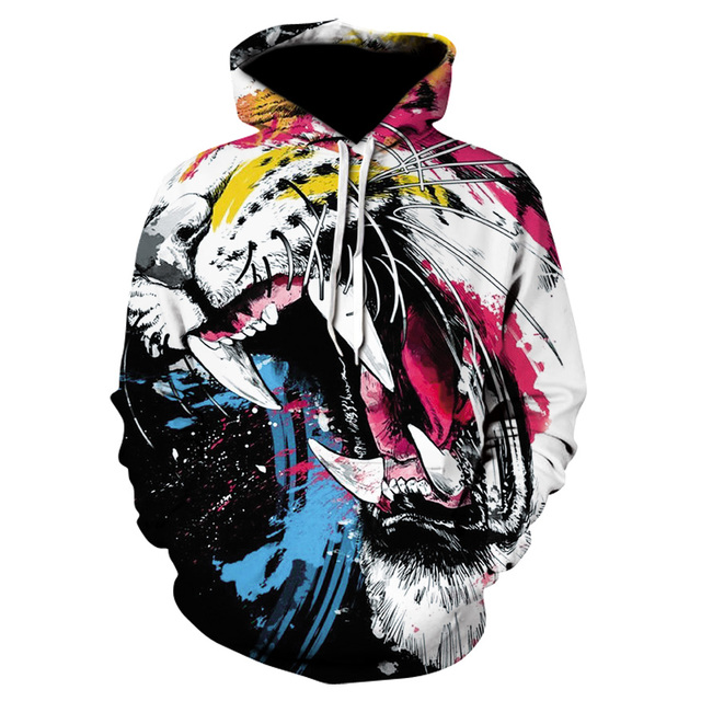 Lion & Tiger 3D Print Hoodie Collection 4