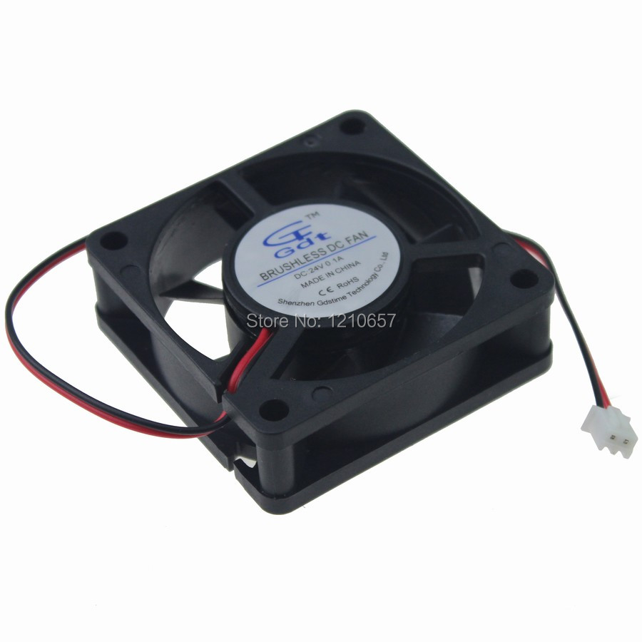 1 Pieces Gdstime Dc Brushless Cooling Fan 60mm x 20mm 60mm 24V 2Pin gdstime 10 pcs dc 12v 14025 pc case cooling fan 140mm x 25mm 14cm 2 wire 2pin connector computer 140x140x25mm