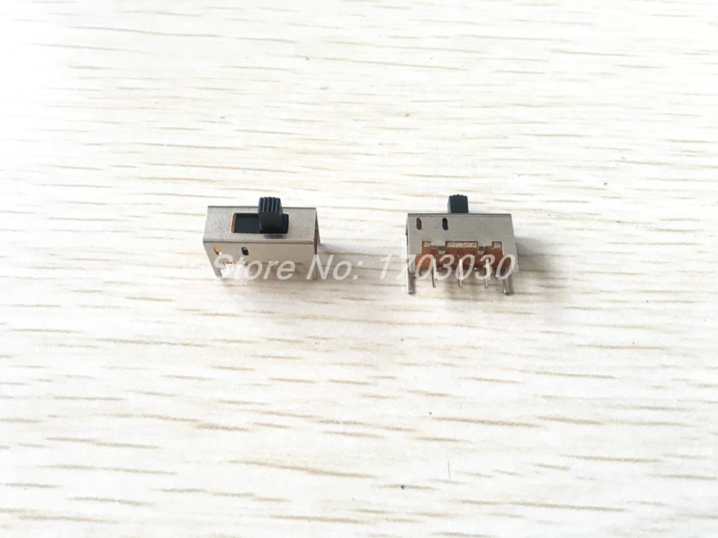 Aexit AC 50V Networking Products 0.5A On//On 2 Position 2P2T DPDT Horizontal Slide Switch Side Knob Switches 10 Pcs