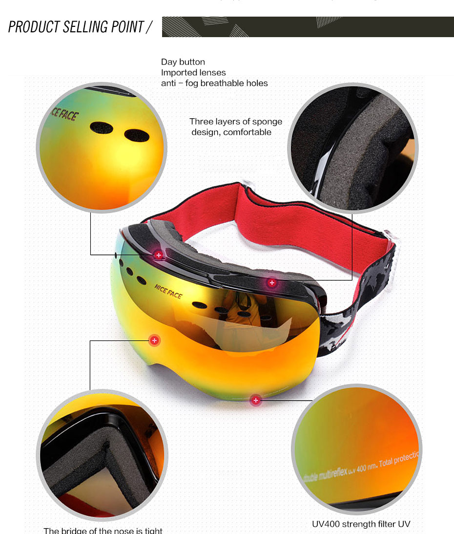 High Quality ski glasses