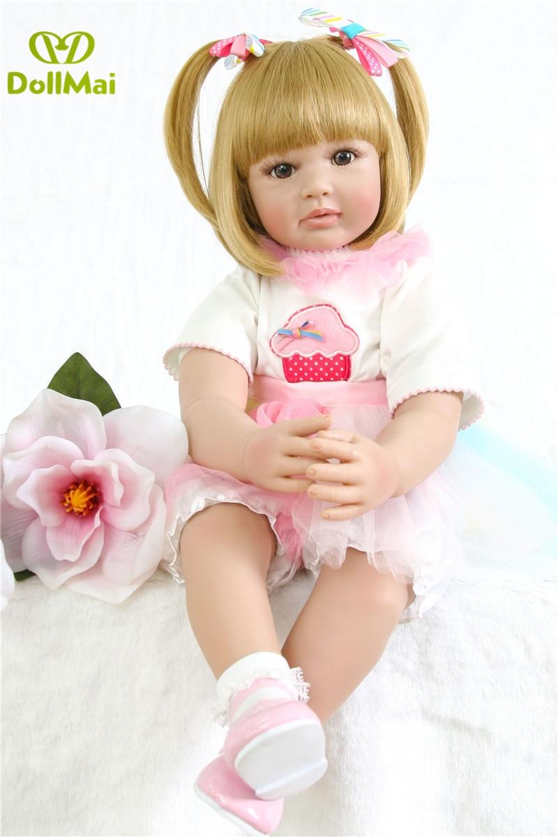 60cm silicone reborn baby dolls vinyl princess baby alive doll Adorable girl  toddler bebes reborn children gift60cm silicone reborn baby dolls vinyl princess baby alive doll Adorable girl  toddler bebes reborn children gift