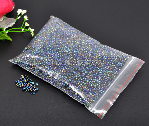 Free shipping 50 g Wholesales Hot New Creation DIY Seed Beads Spacer Round Shape Multicolor Glass Charms Jewelry Component 2mm