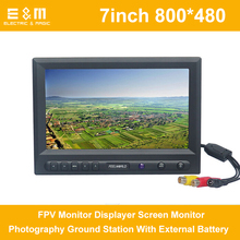 Feelworld FPV769A LCD 7 inch FPV Monitor Displayer 800×480 Screen Monitor Photography Ground Station With External Battery