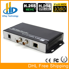 URay HEVC H.265 HD 3G SDI IP Streaming Encoder HD-SDI IPTV Encoder H265 RTMP RTSP UDP SDI Transmitter H264 Live Streaming Server