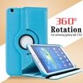 Для Case Samsung Galaxy Tab 3 8.0 T311 T310 T315 смарт Стенд Tablet PU Leather Case Обложка 360 Вращающийся + Протектор Экрана стилус