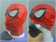 цена на high quality Cosplay Spiderman Faceshell with spidierman mask halloween spiderman costume props