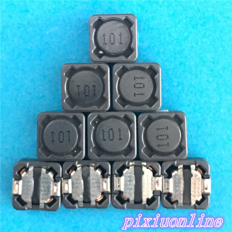 10pcs M89Y 7*7*4 100UH SMT SMD Patch Shielding Power Inductors  101 Electronic Components High Quality On Sale