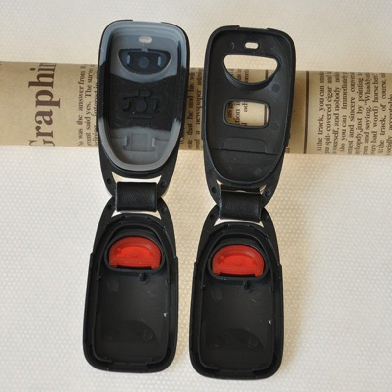 DAKATU Replacement Remote Key Shell 2 Button +Panic For HYUNDAI Tuscon Accent Keyless Entry Case Fob 2+1 BUTTON