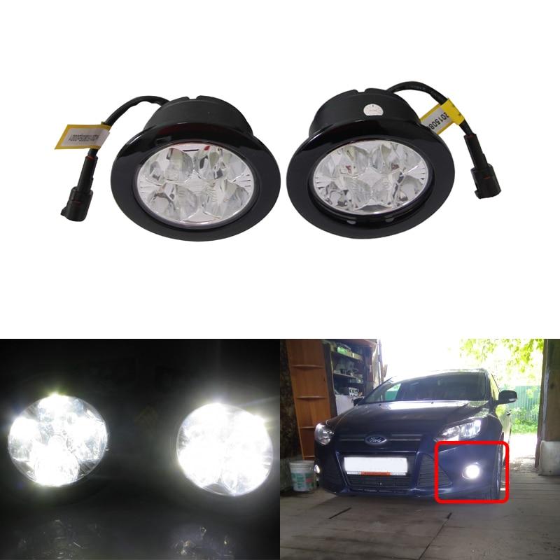 3.5Inch 90MM E4 R87 Round Led Fog Light Xenon White Fog Lamp Car Styling Universal Use Ultra Bright Auto Car Led Lights