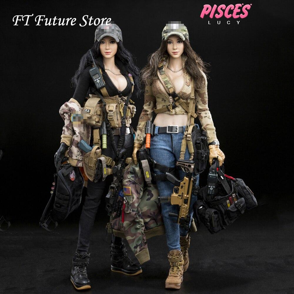 Para la colección de regalos de los Fans de la serie de las muchachas de la lucha de la escala 1/6 DCG003/DCG004 figura de acción modelo de muñeca-in Figuras de juguete y acción from Juguetes y pasatiempos    1