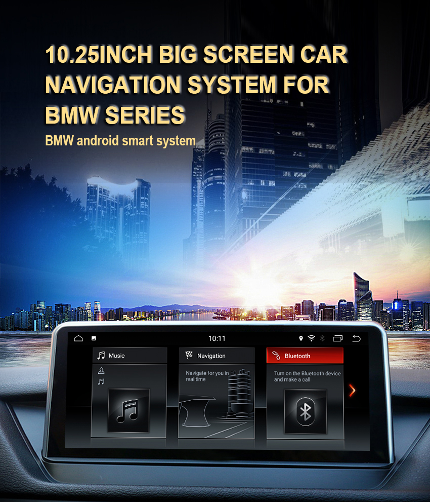1 Koason Android7.1 2+32G Car Stereo Audio touchscreen Multimedia Player GPS Navigation system for BMW X1 E84 2009-2015 CIC