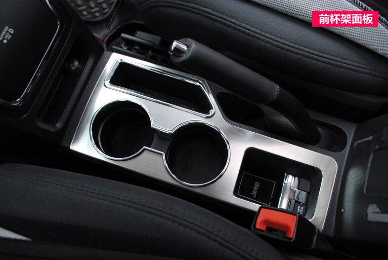 for Jeep compass 2011 2012 2013 2014 2015 water cup holder decoration Frame cover trim цена