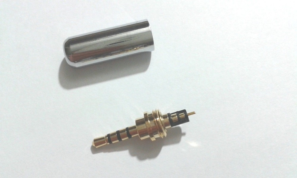 30 шт. Медь стерео 4-полюсный 2,5 мм угловой штекер Jack кабель припоя В комплект поставки входит адаптер