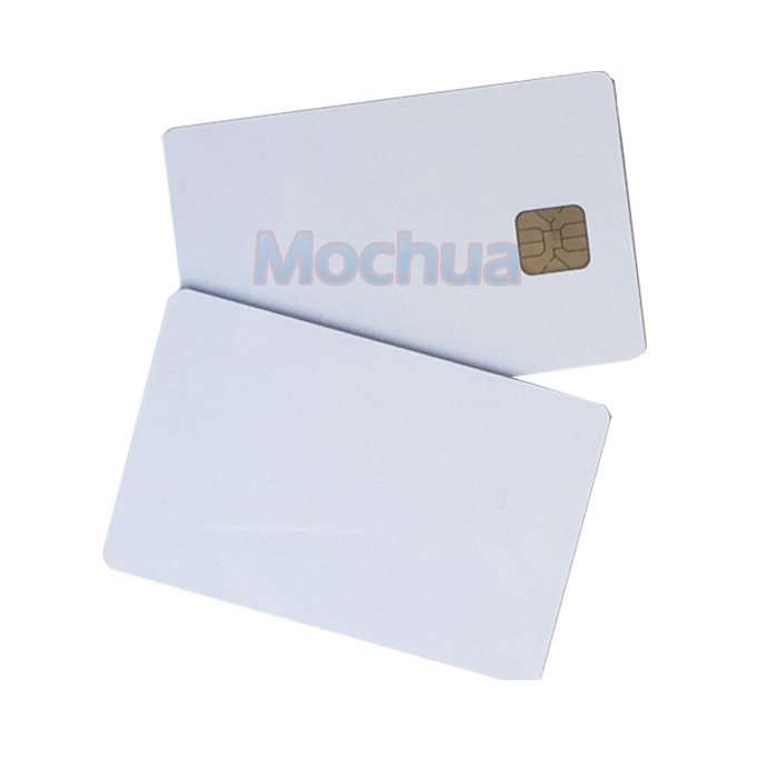 SLE4428 Contact IC Card ISO7816 PVC Smart IC Card 30mil Glossy