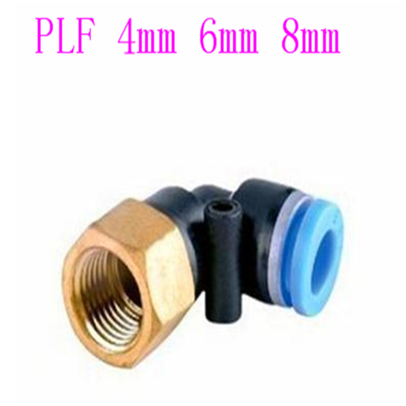 10 pcs PLF pneumatic L 90 Degree Female elbow plastic Push in Fit quick Connector pe pipe fitting in Valves Parts from Automobiles Motorcycles