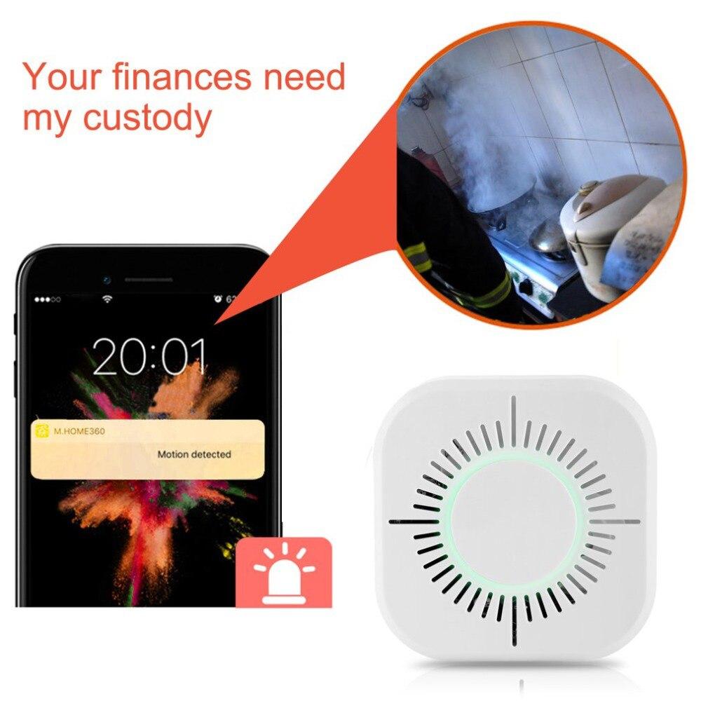 Sicherheit & Schutz Professioneller Verkauf Neue Rauchmelder Wireless Feuer Schutz Tragbare Rauchmelder Wifi Hause Büro Sicher Sicherheit Rauch Alarm Sensor